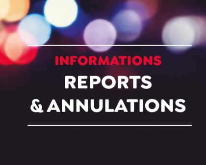 Annulations et reports